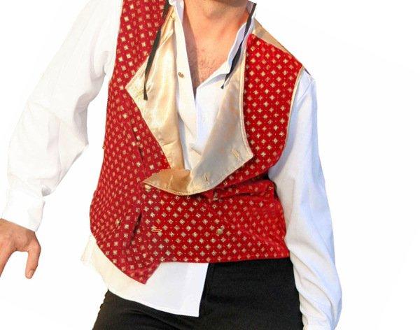 Rote Weste Spanier Outfit spanische Weste Torero