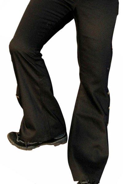 Schwarze Hose Spanier Outfit spanische Hosen für Toreros