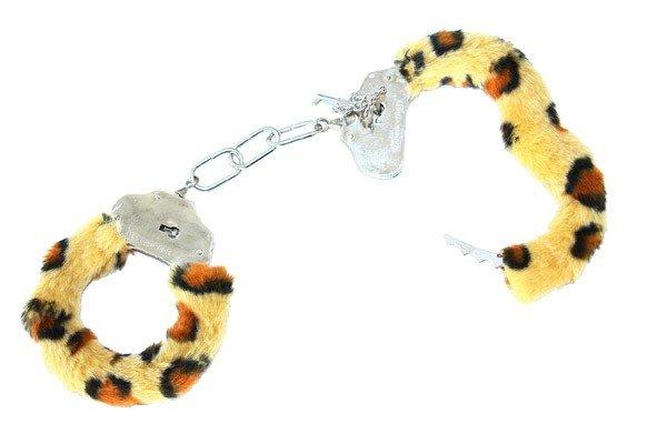 Plüschhandschellen Tigerfarbene Handschellen Junggesellenabschied