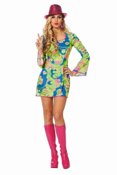 Hippy Hippie Kostüm sexy Kleid kurz 60er 70er Jahre Hippiekleid
