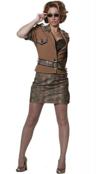 sexy Damenkostüm Kleid Safari Jagd Fasching Karneval