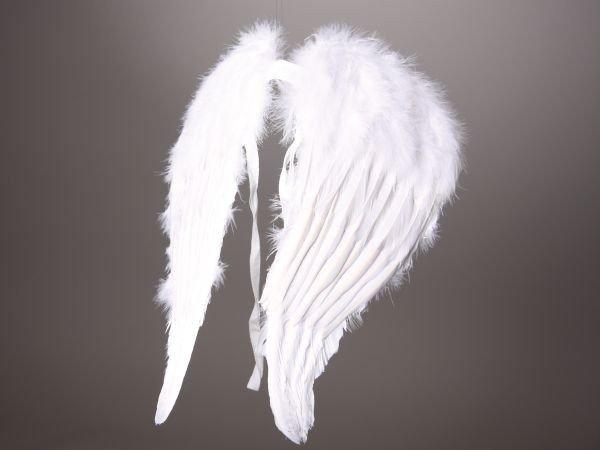 Engelsflügel Federflügel Weihnachte 45cm weiß