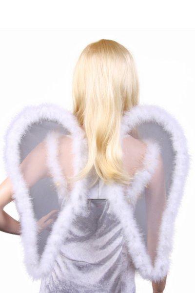 Engelsflügel transparent Weihnachten Engel Flügel ca 53cm weiß