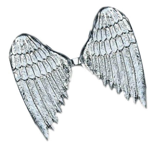 Silberne Engel Flügel Weihnachten Deko plastik 36cm